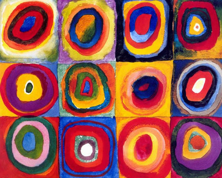 7 Squares with Concentric Circles