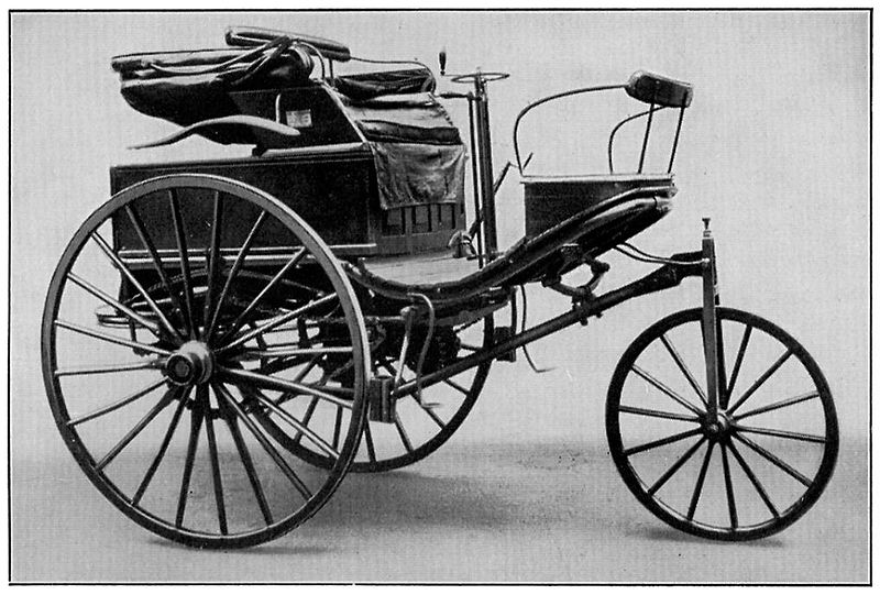 5 The Benz Patent-Motorwagen Number 3 of 1888, used by Bertha Benz for the first long distance journey by automobile (more than 106 km or sixty miles)