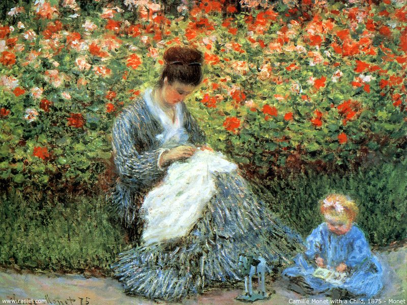 2.2 Camille Monet and a Child in the Artist's Garden in Argenteuil