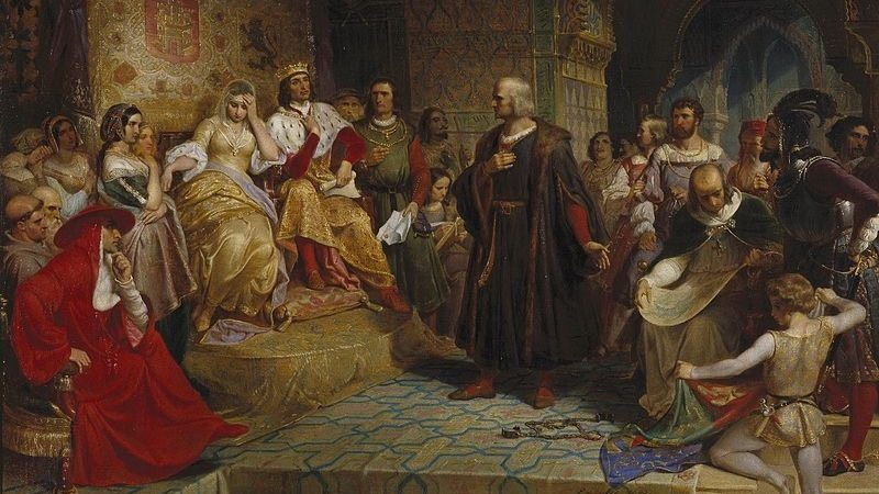 Columbus Before the Queen by Emanuel Leutze, 1843