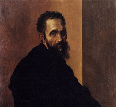 Portrait of Michelangelo by Jacopino del Conte