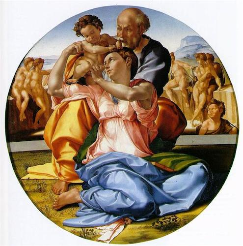Holy Family With St. John The Baptist by Michelangelo