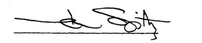 Signature of Mark Spitz